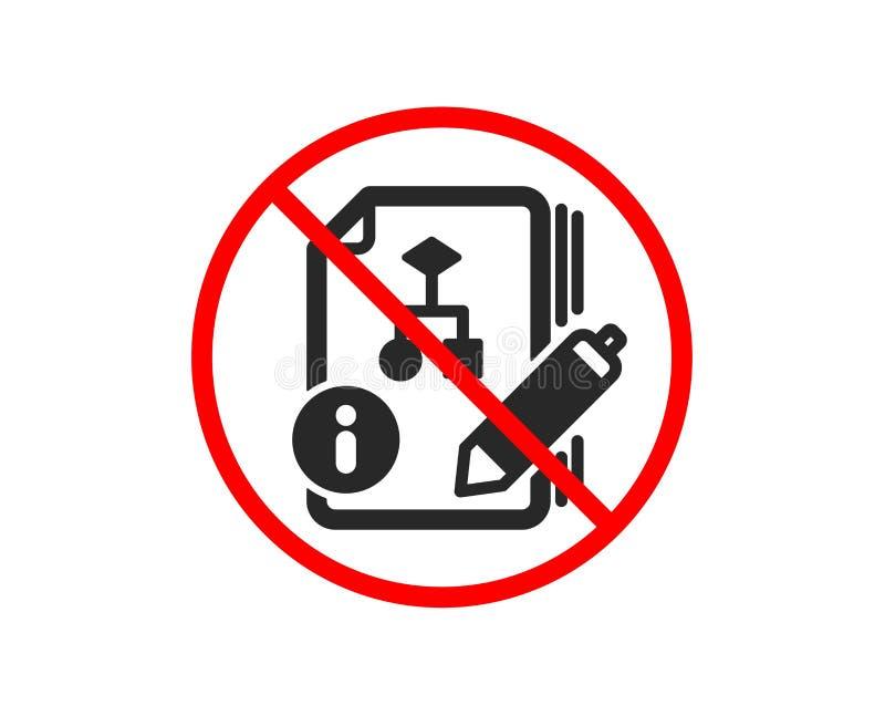 Dokumentacja z algorytm ikoną Techniczny instrukcja znak wektor ilustracji