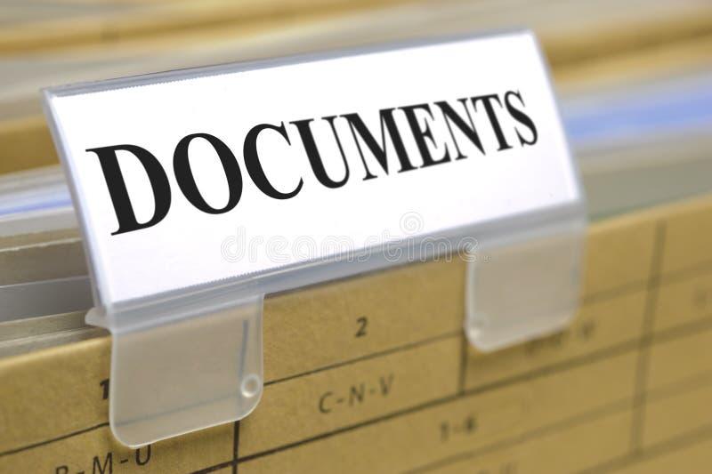 Dokumente stockbilder