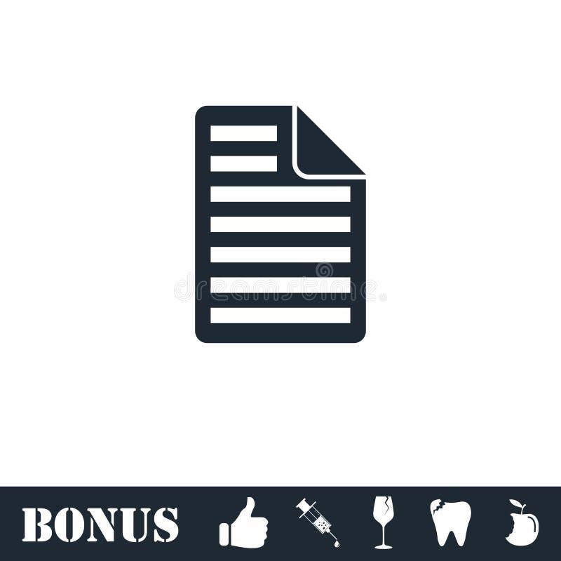 Dokumenten-Ikone flach stock abbildung