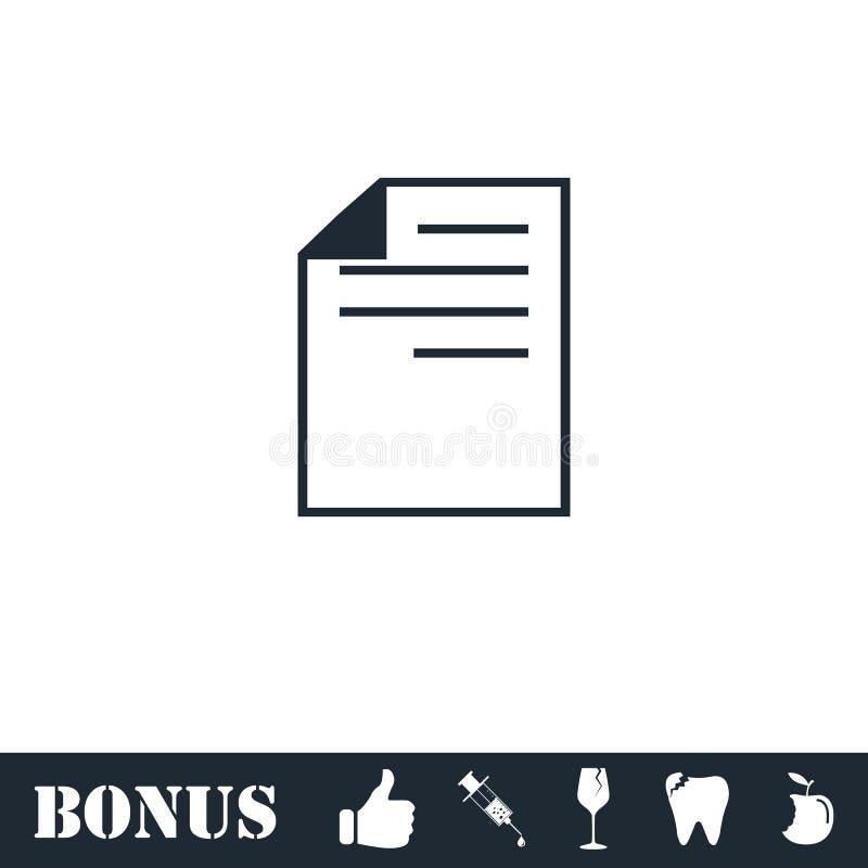 Dokumenten-Ikone flach vektor abbildung