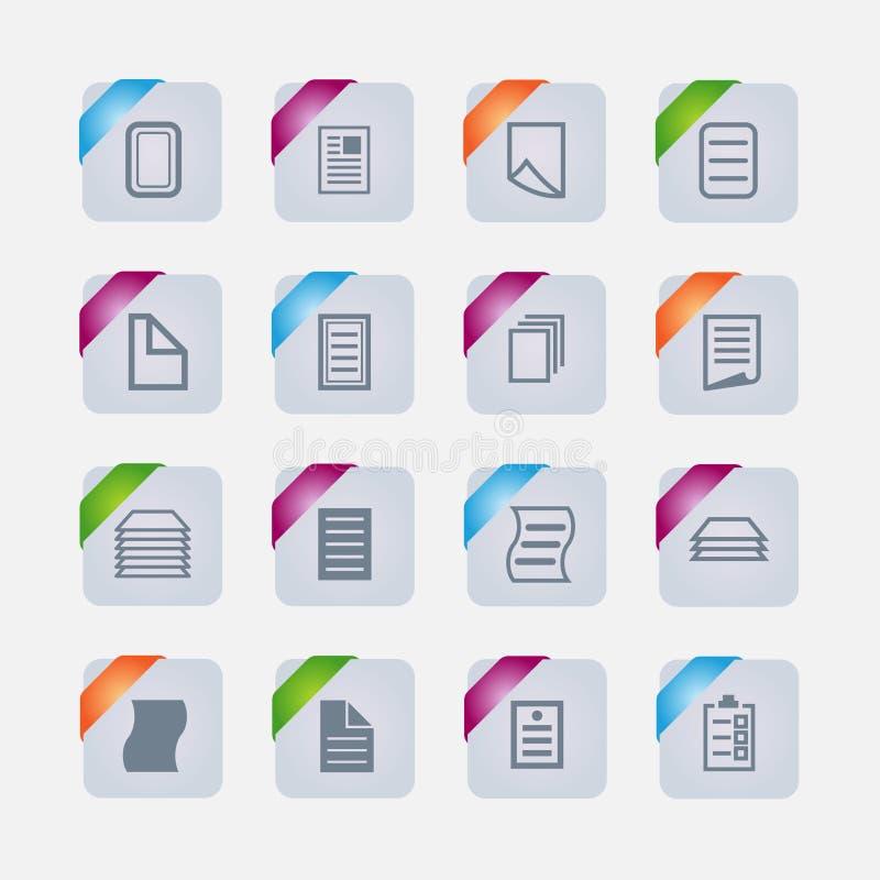 Dokumenten-Ikonen stockbild