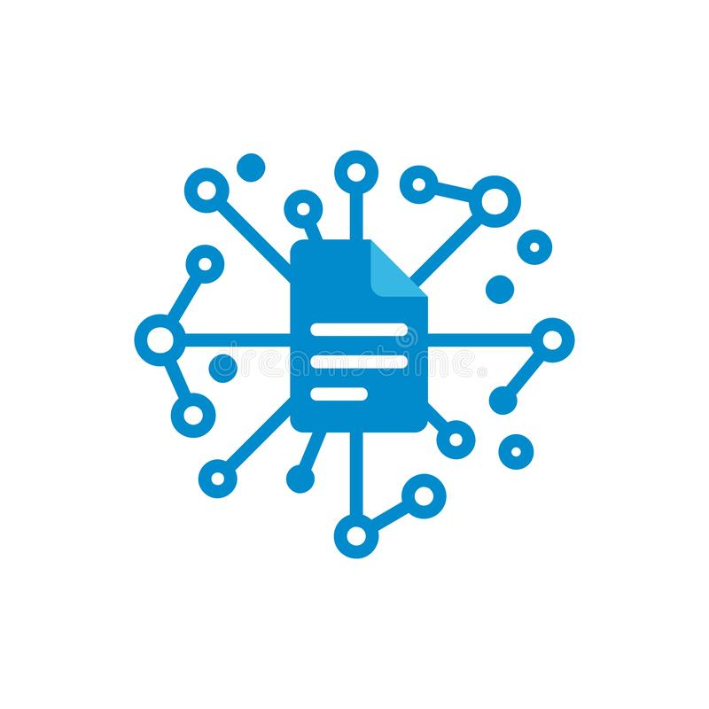 Dokumenten-Netz Logo Icon Design vektor abbildung
