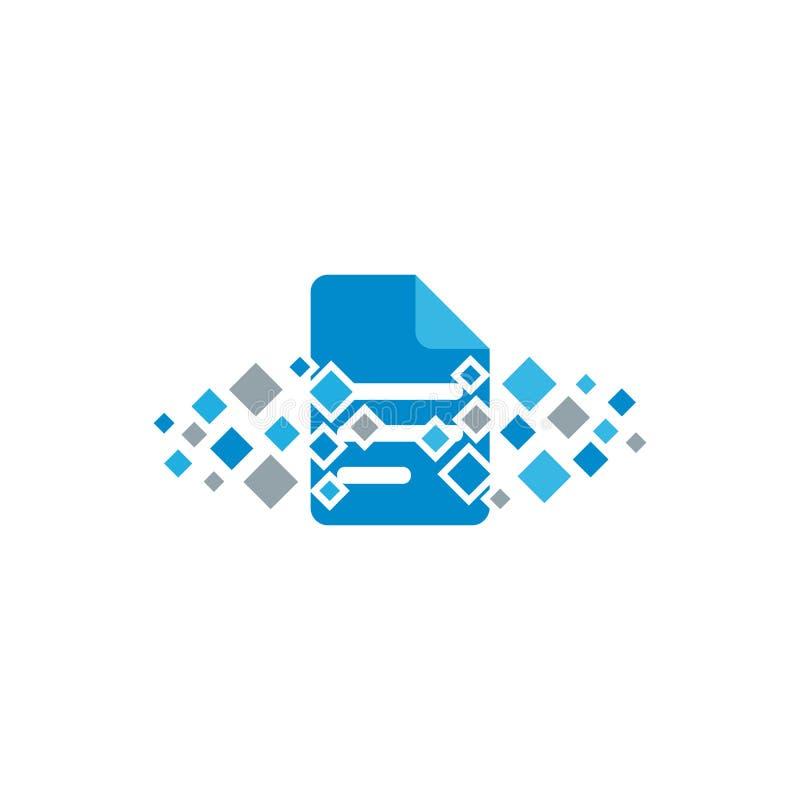 Dokumenten-Pixel Logo Icon Design lizenzfreie abbildung