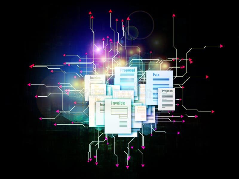 Dokumenten-Universum stock abbildung
