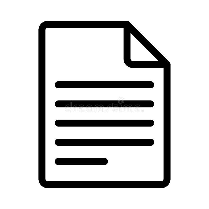 Dokumentenikone lizenzfreie abbildung