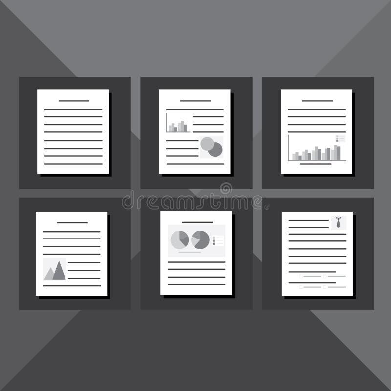 Dokumentenschablonensatz lizenzfreies stockbild
