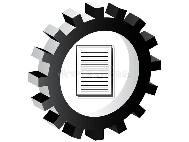 Dokumententaste vektor abbildung