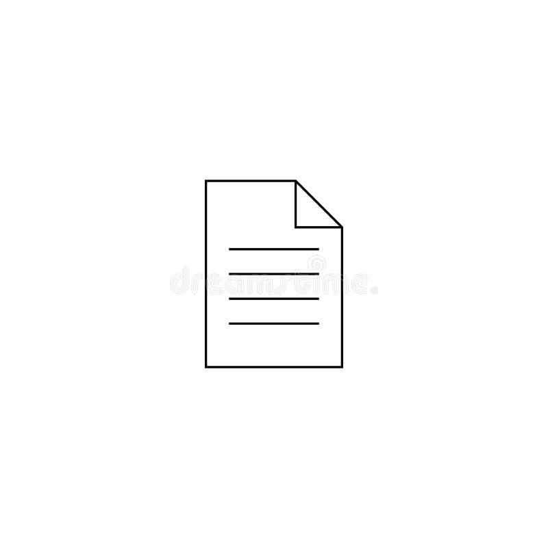 Dokumentenvektorikone Illustration lokalisiert f?r Grafik und Webdesign lizenzfreie abbildung