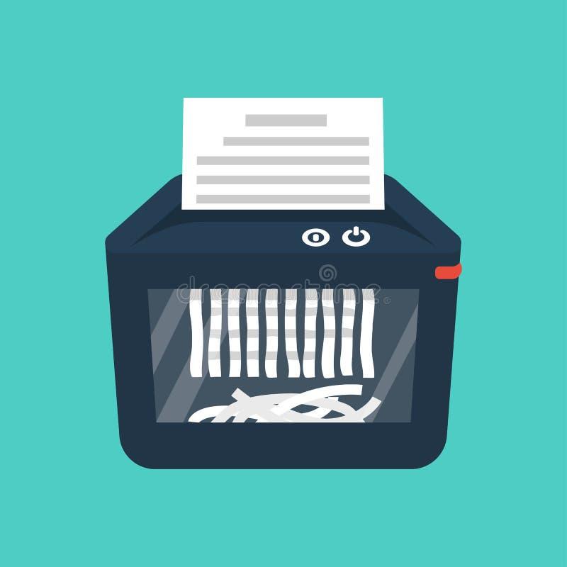 Dokumentf?rst?raremaskin isolerad paper dokumentf?rst?rare royaltyfri illustrationer