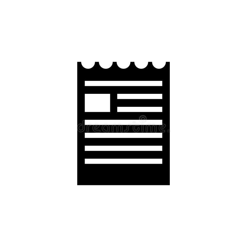 Dokumentmapp, sönderriven broschyrvektorsymbol stock illustrationer