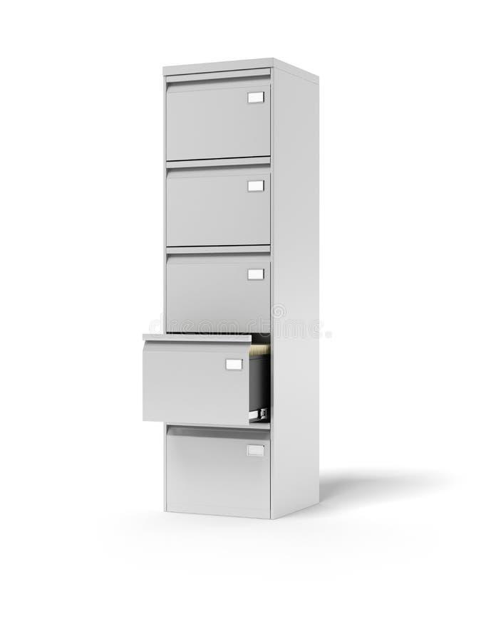 Dokumentskåp stock illustrationer