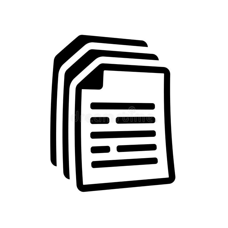 Dokumentsymbol  royaltyfri illustrationer