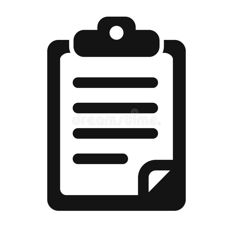 Dokumentsymbol - för materiel vektor illustrationer
