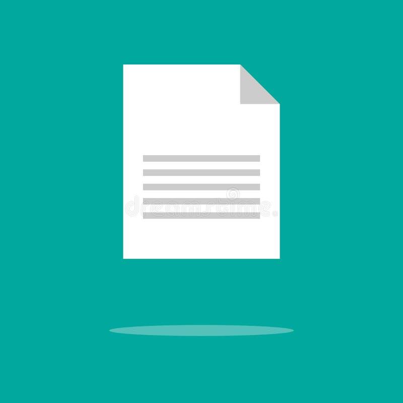 Dokumentsymbol Svart fylld vektorillustration Dokumentsymbol p? vit bakgrund Kan anv?ndas i reng?ringsduk och mobil vektor illustrationer
