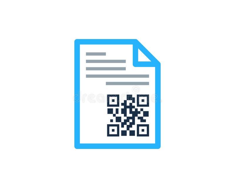 Dokumentu Barcode ikony loga projekta element ilustracji