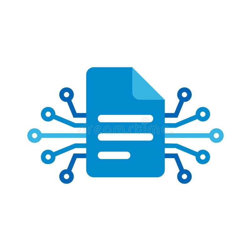 Dokumentu Cyfrowego loga ikony projekt ilustracja wektor