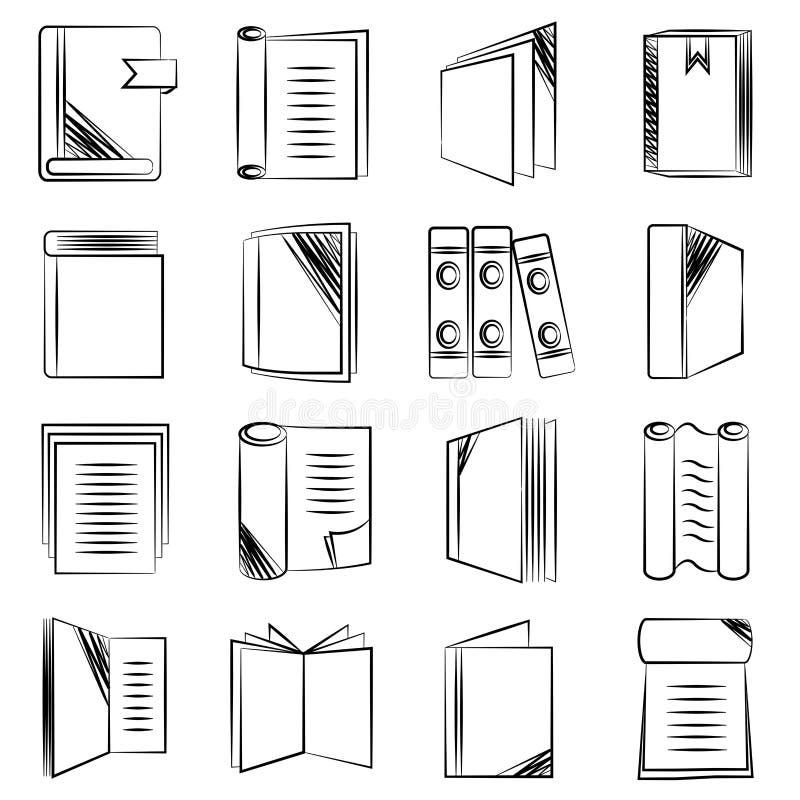 Dokumentu i książki ikony royalty ilustracja