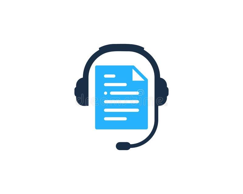 Dokumentu Podcast loga ikony projekt ilustracja wektor