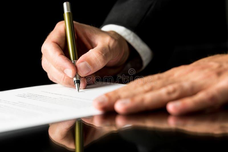 Dokumentu podpisywanie obrazy royalty free