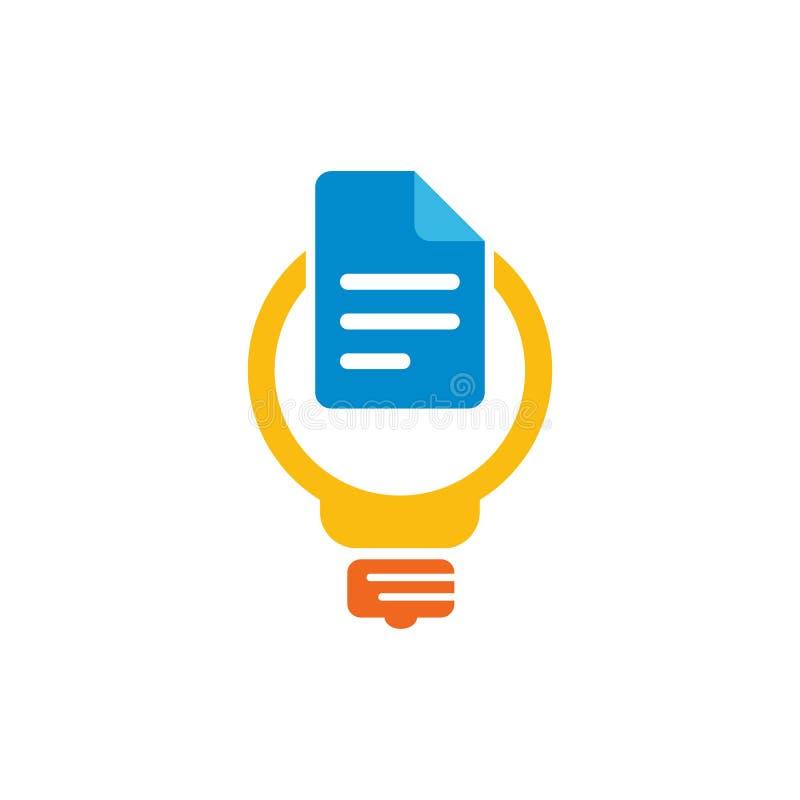 Dokumentu pomysłu głowy loga ikony projekt ilustracja wektor