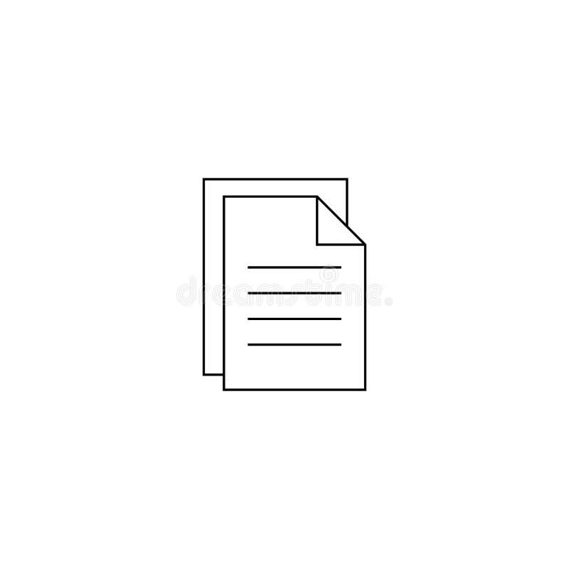 Dokumentu wektoru ikona Ilustracja odizolowywaj?ca dla grafiki i sieci projekta ilustracja wektor