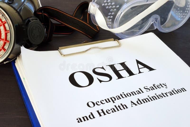 Dokumenty z Okupacyjnego bezpieczeństwa i zdrowie administracją OSHA zdjęcia royalty free