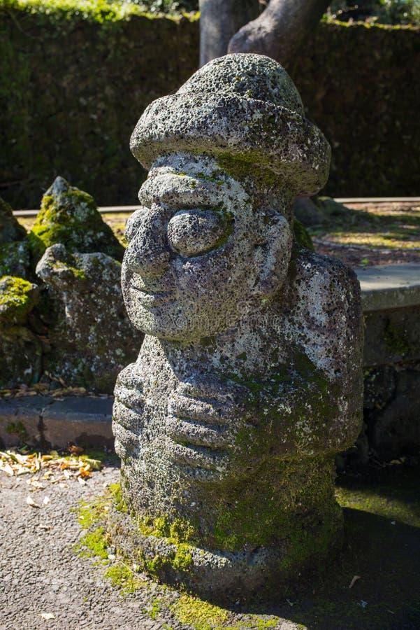 Dol Hareubang, estátua de pedra tradicional local fotografia de stock