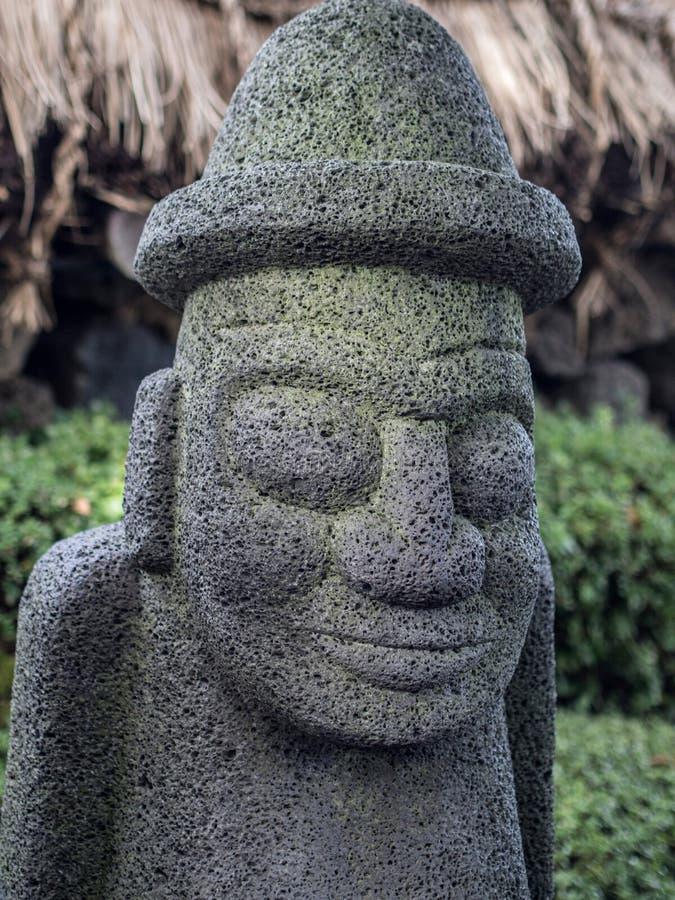 Dol-Harubang济州海岛雕象 免版税库存照片