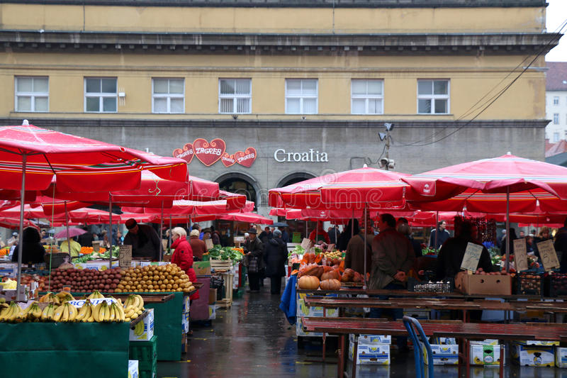 Dolac市场,萨格勒布 免版税库存图片