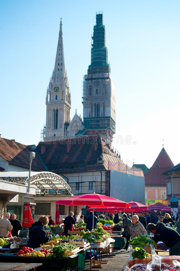 Dolac Market royalty free stock image