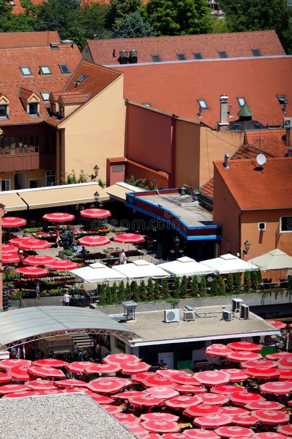 Dolac Market, Zagreb stock photography