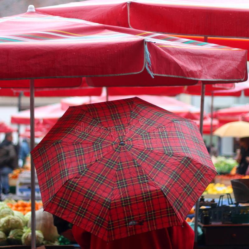Dolacmarkt, Zagreb stock afbeelding