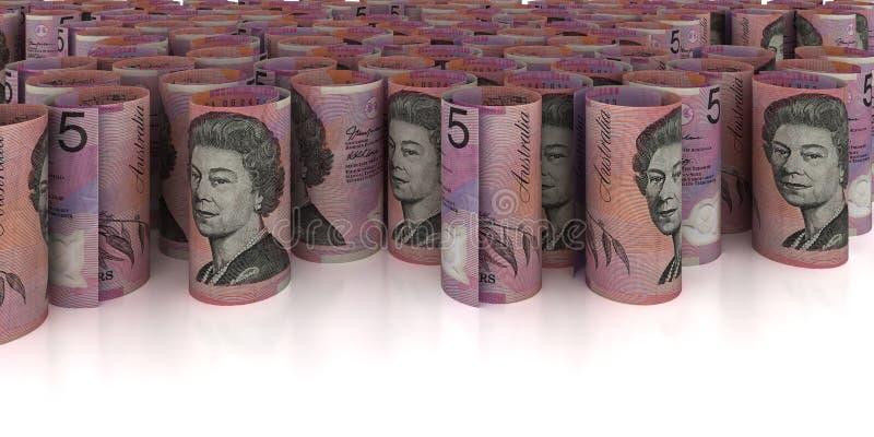 5 dolarów australijskich tło obraz stock