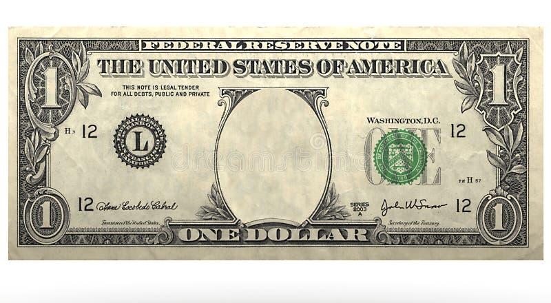 Dolar没有面孔 库存例证