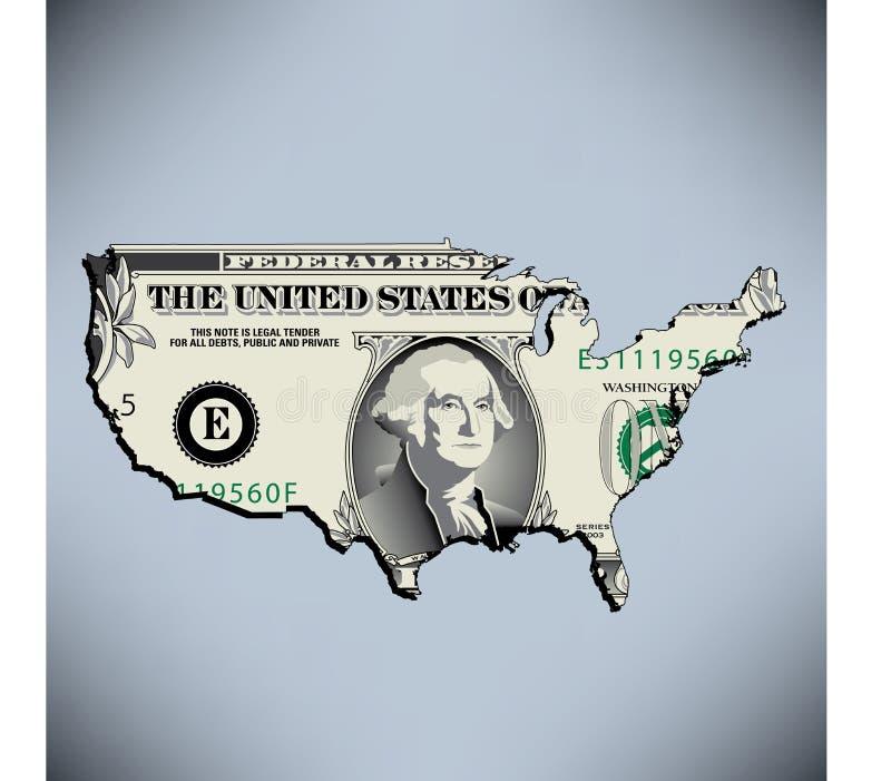 dolar amerykański jeden ilustracji