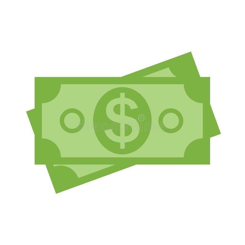 dolar amerykański sterty papieru banknotów ikony znaka biznesu finanse pieniądze ilustracji