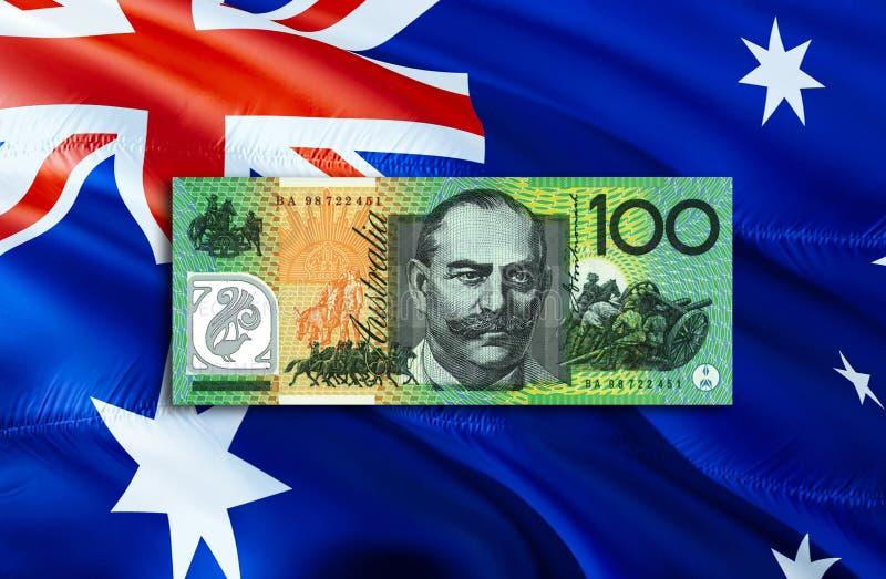 Dolar Australijski gospodarka dla biznesowej i pieniężnej pojęcie pomysłów ilustracji, tło Pojęcie z pieniądze dolarem australijs zdjęcie royalty free