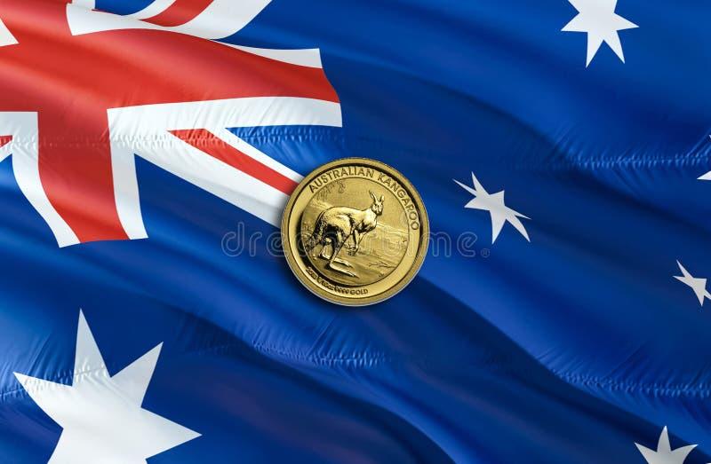 Dolar Australijski gospodarka dla biznesowej i pieniężnej pojęcie pomysłów ilustracji, tło Pojęcie z pieniądze dolarem australijs obraz royalty free