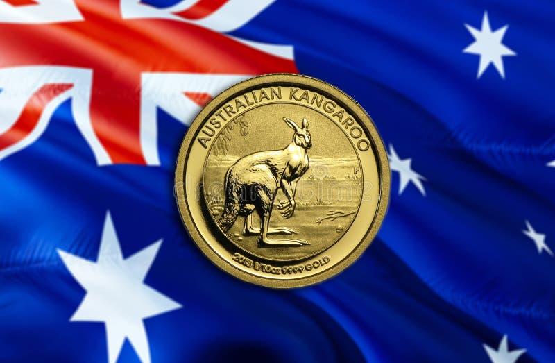 Dolar Australijski gospodarka dla biznesowej i pieniężnej pojęcie pomysłów ilustracji, tło Pojęcie z pieniądze dolarem australijs zdjęcia stock