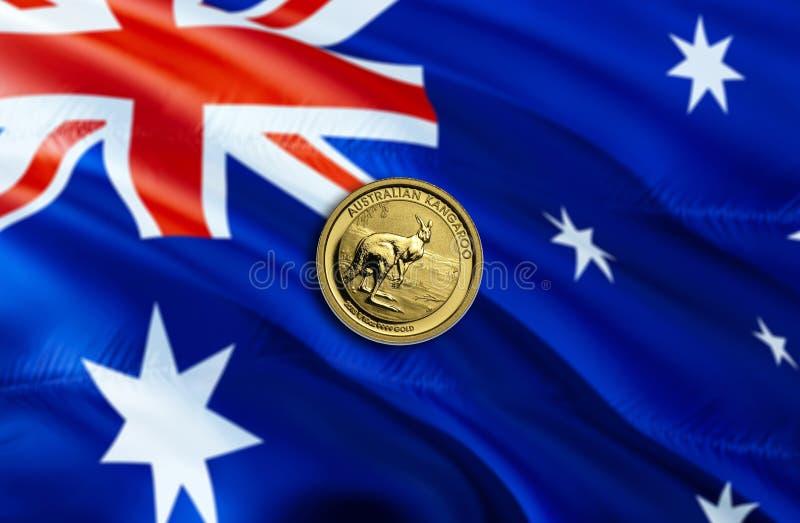 Dolar Australijski gospodarka dla biznesowej i pieniężnej pojęcie pomysłów ilustracji, tło Pojęcie z pieniądze dolarem australijs zdjęcia royalty free