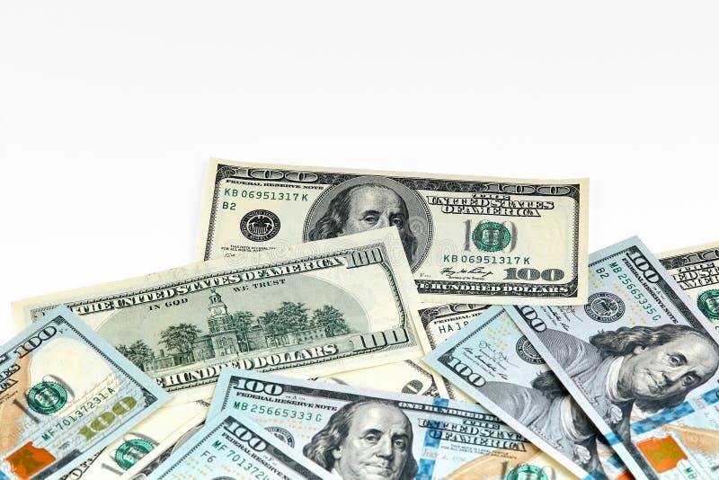 dolar banknotów sto Dolary zbliżenia pojęcia amerykanin zdjęcia stock