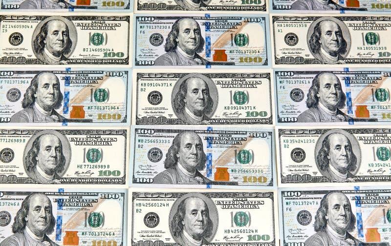 dolar banknotów sto Dolary zbliżenia pojęcia amerykanin obraz royalty free