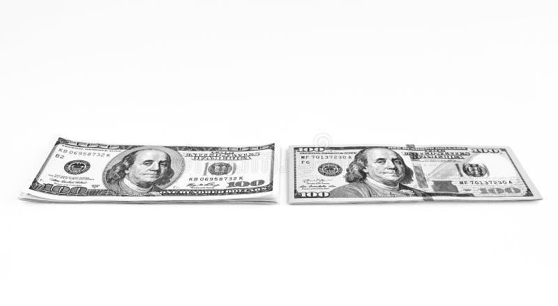 dolar banknotów sto Dolary zbliżenia pojęcia amerykanin obrazy royalty free