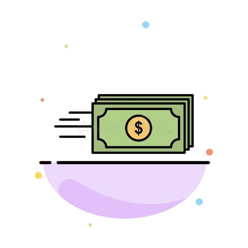 Dolar, biznes, przepływ, pieniądze, waluta koloru ikony Abstrakcjonistyczny Płaski szablon royalty ilustracja