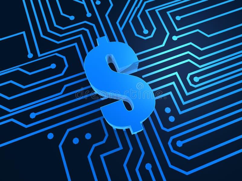 dolar cyfrowych, ilustracja wektor