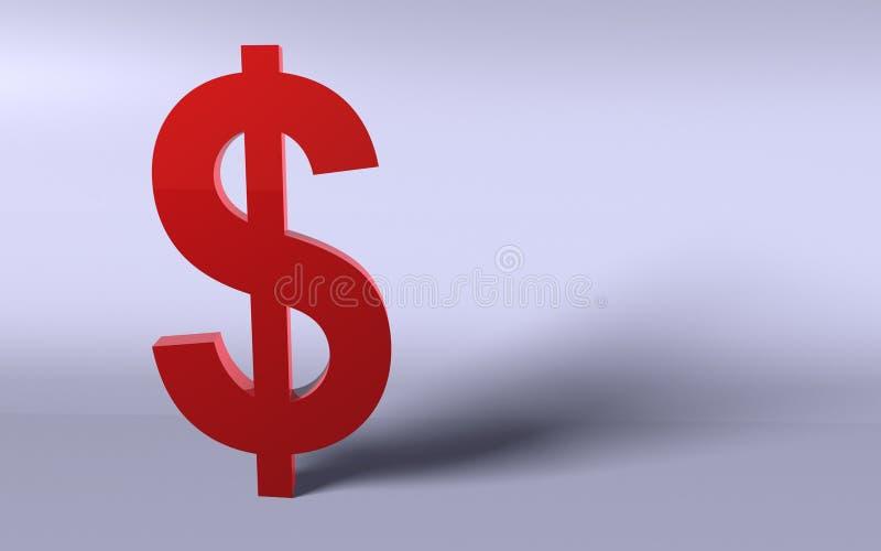 dolar czerwień zdjęcie stock
