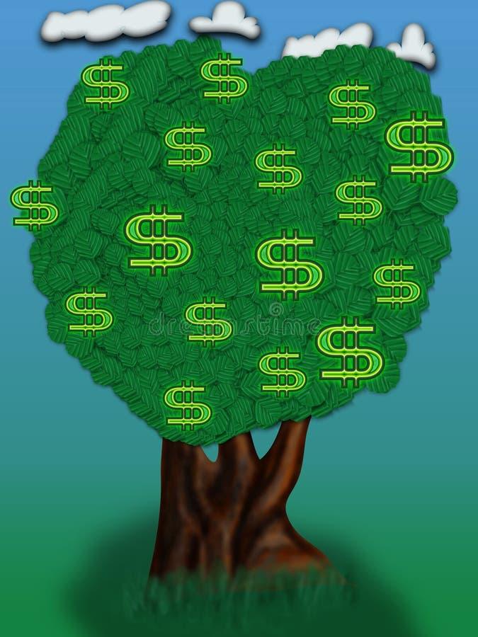 dolar drzewo ilustracja wektor