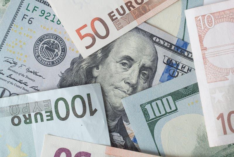 Dolar i euro obrazy stock