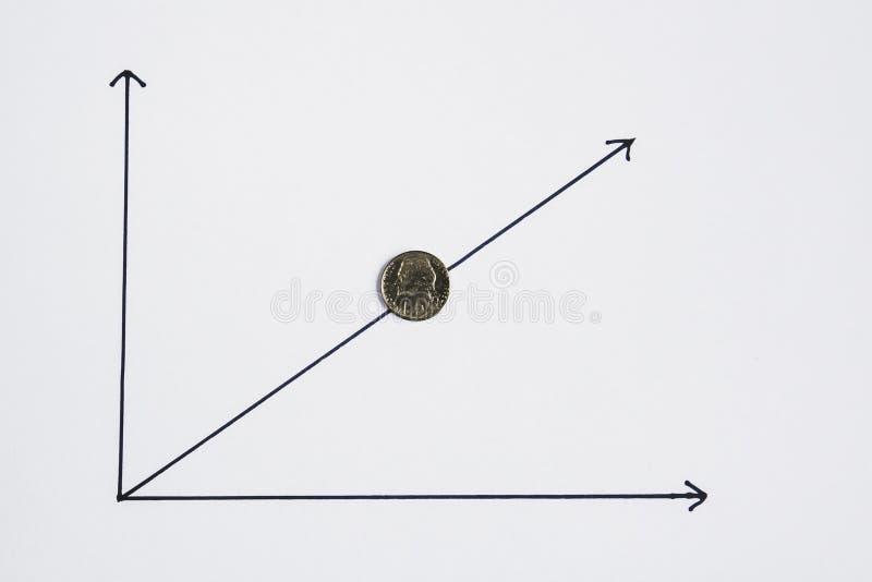 Dolar jest wzrastający, pojęcie obraz stock