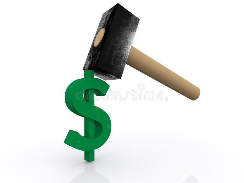 Dolar młotkujący ilustracji